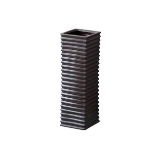 フロット 傘立て 陶器 波 ブラック 黒 幅15cm 奥行15cm 高さ45cm