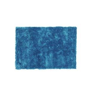 シャギーラグ マット ブルー 青 縦90cm 横130cm