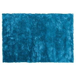 シャギーラグ マット ブルー 青 縦130cm 横190cm