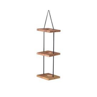 ハンギングプランター3段 プランター ガーデン インテリア 雑貨 茶色 ブラウン 高さ56cm 幅20cm 間隔25cm