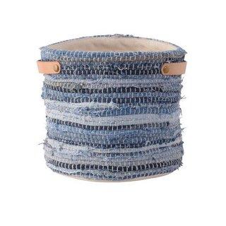 ファブリックプランター プランター ガーデン インテリア 雑貨 青 ブルー 縦20cm 幅20cm