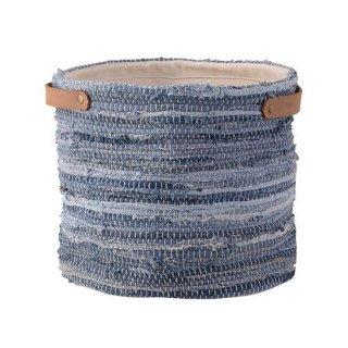 ファブリックプランター プランター ガーデン インテリア 雑貨 青 ブルー 縦30cm 幅28cm