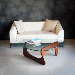 コーヒーテーブル リビング ローテーブル 幅1250cm ガラス ウォルナット イサムノグチ リプロダクト センターテーブル