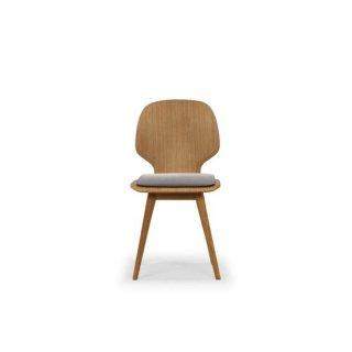 ダイニングチェア 無垢材 タモ材 木製 ミディアムブラウン 曲線 北欧 デザイナーズ クッション ESSE(エッセ)