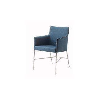 ダイニングチェア ファブリック 布 スチール クロムメッキ ネイビー 紺 カフェ 飲食店 agiato chair(アジャートチェア)