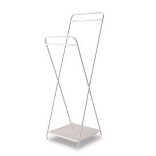 フォールディングハンガー インテリア   ホワイト 幅51cm 高さ153.5cm    奥行き51cm