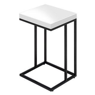 サイドテーブル ホワイト 白 高級感 シンプル 鏡面塗装 木目 幅35cm   送料無料 FONTE(フォンテ)