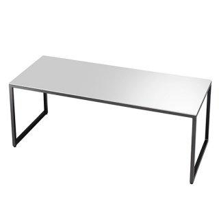 サイドテーブル ホワイト 白 スクエア シンプル 鏡面仕上げ 幅120cm   送料無料 VERVE(ヴァーヴ)