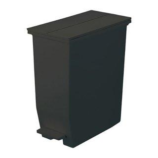 8/31(火)までSUMMERSALEクーポン対象商品☆SOLOW ペダルオープンツイン ダストボックス ゴミ箱 インテリア ブラック 黒 幅22cm 高さ48cm 奥行き42.5cm 35L