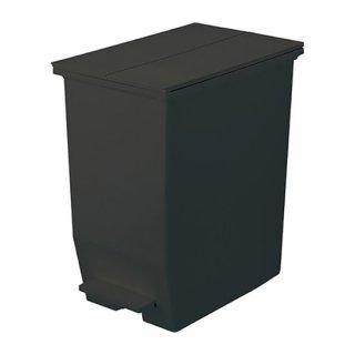 8/31(火)までSUMMERSALEクーポン対象商品☆SOLOW ペダルオープンツイン ダストボックス ゴミ箱 インテリア ブラック 黒 幅27cm 高さ48cm 奥行き42.5cm 45L