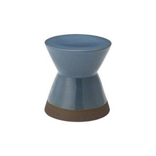 スツール オブジェ インテリア 陶器 ブルー 青 直径30cm 高さ31cm