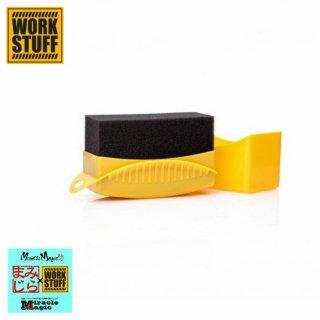 洗車 アプリケーター タイヤコーティング剤 塗り込み用 スポンジ ドレッシング作業 タイヤアプリケーター WORK STUFF メンテナンス
