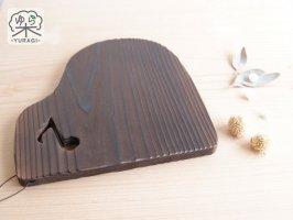 YURAGI『ピアノ』鍋敷き Lサイズ 焼き仕上げ