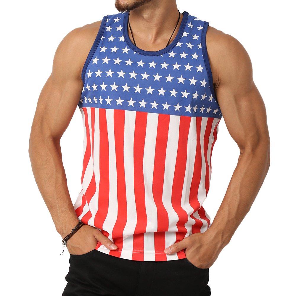 アメリカ国旗柄タンクトップ