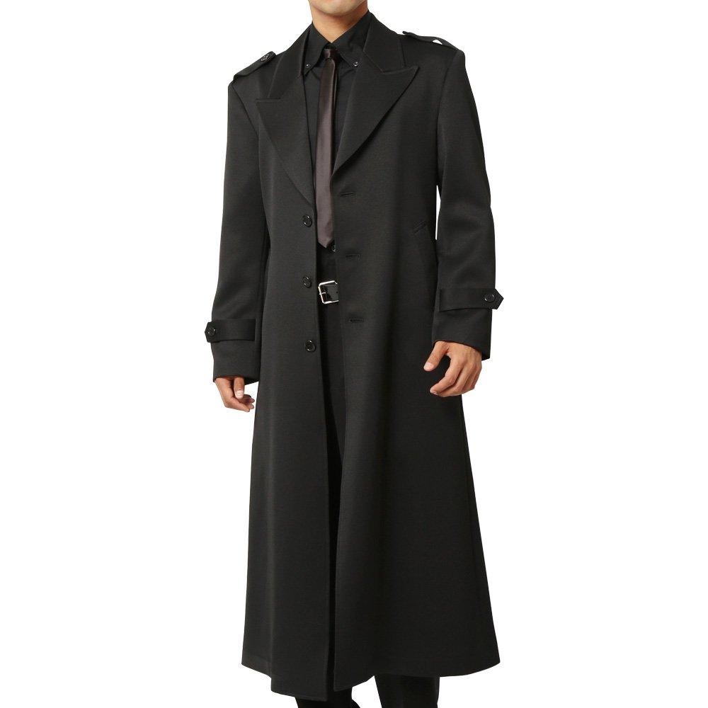 シングルマキシロングコート メンズ 衣装|カラー:ブラック