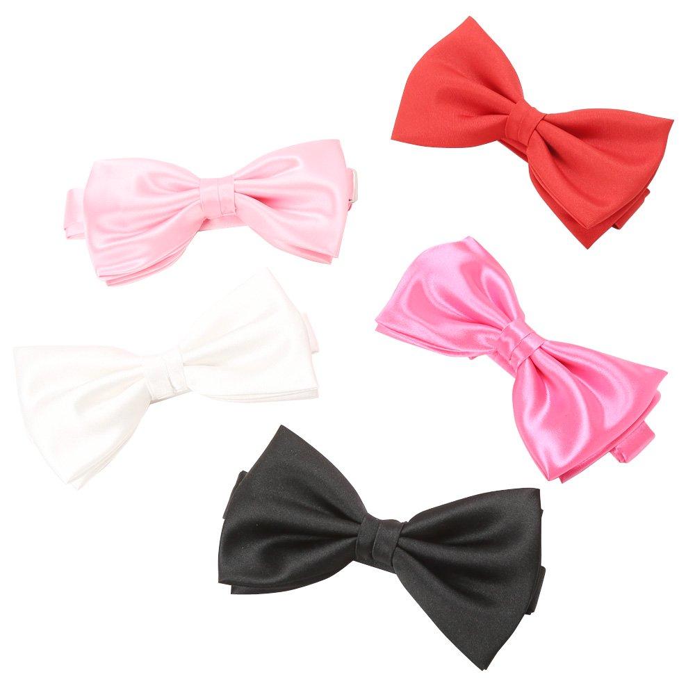 蝶タイ(大) 男女兼用 衣装|カラー:ホワイト / ブラック / ライトピンク / ピンク / レッド