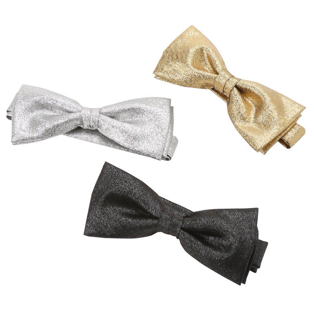 蝶タイ(ラメ) 男女兼用 衣装|カラー:シルバー / ゴールド / ブラック