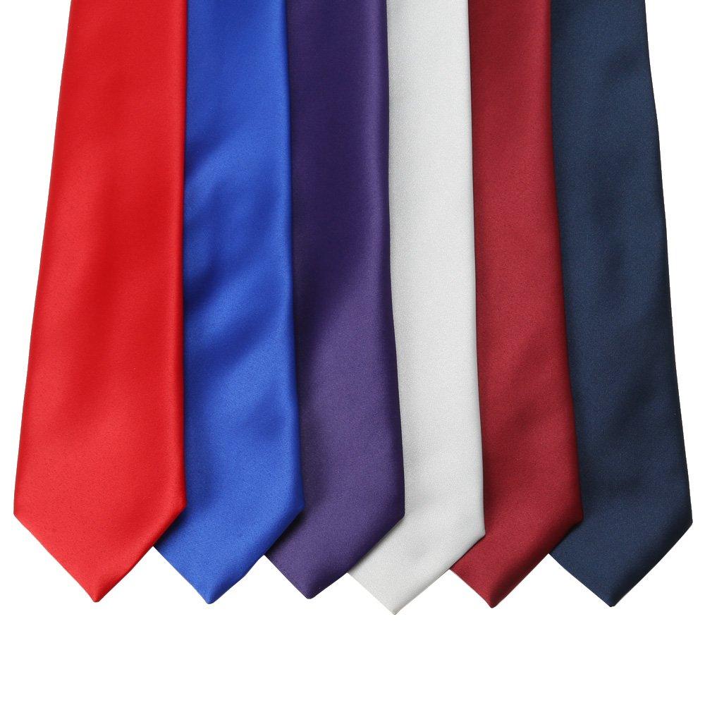 マット ネクタイ 男女兼用 衣装|カラー:レッド / ワイン / ブルー / ネイビー / パープル / グレー
