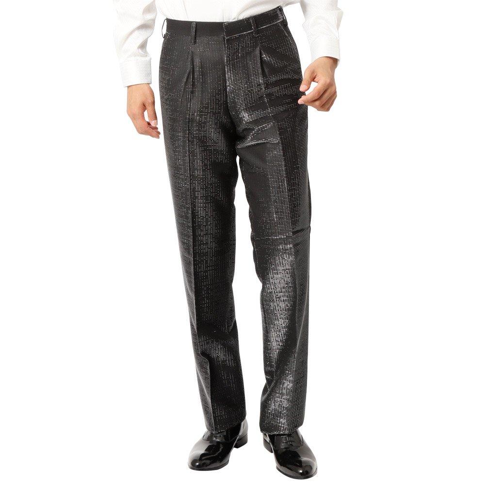 ラメ糸素材 スラックス パンツ 男女兼用 衣装|カラー:シルバー