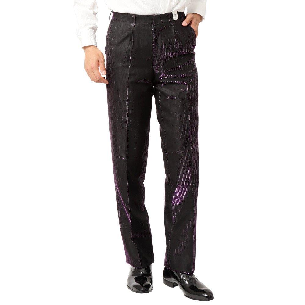 ラメ糸素材 スラックス パンツ 男女兼用 衣装|カラー:パープル