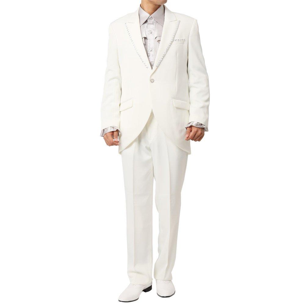 ピークドラペルテーラード デザインスーツ 男女兼用 衣装|カラー:ホワイト