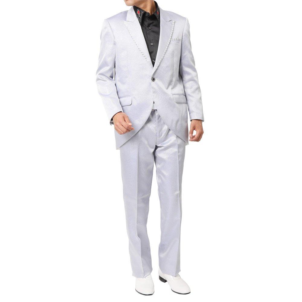 ピークドラペルテーラード デザインスーツ 男女兼用 衣装|カラー:パープル