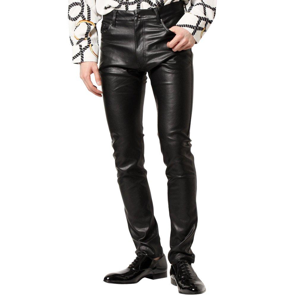 PUレザースリムパンツ 男女兼用 衣装|カラー:ブラック
