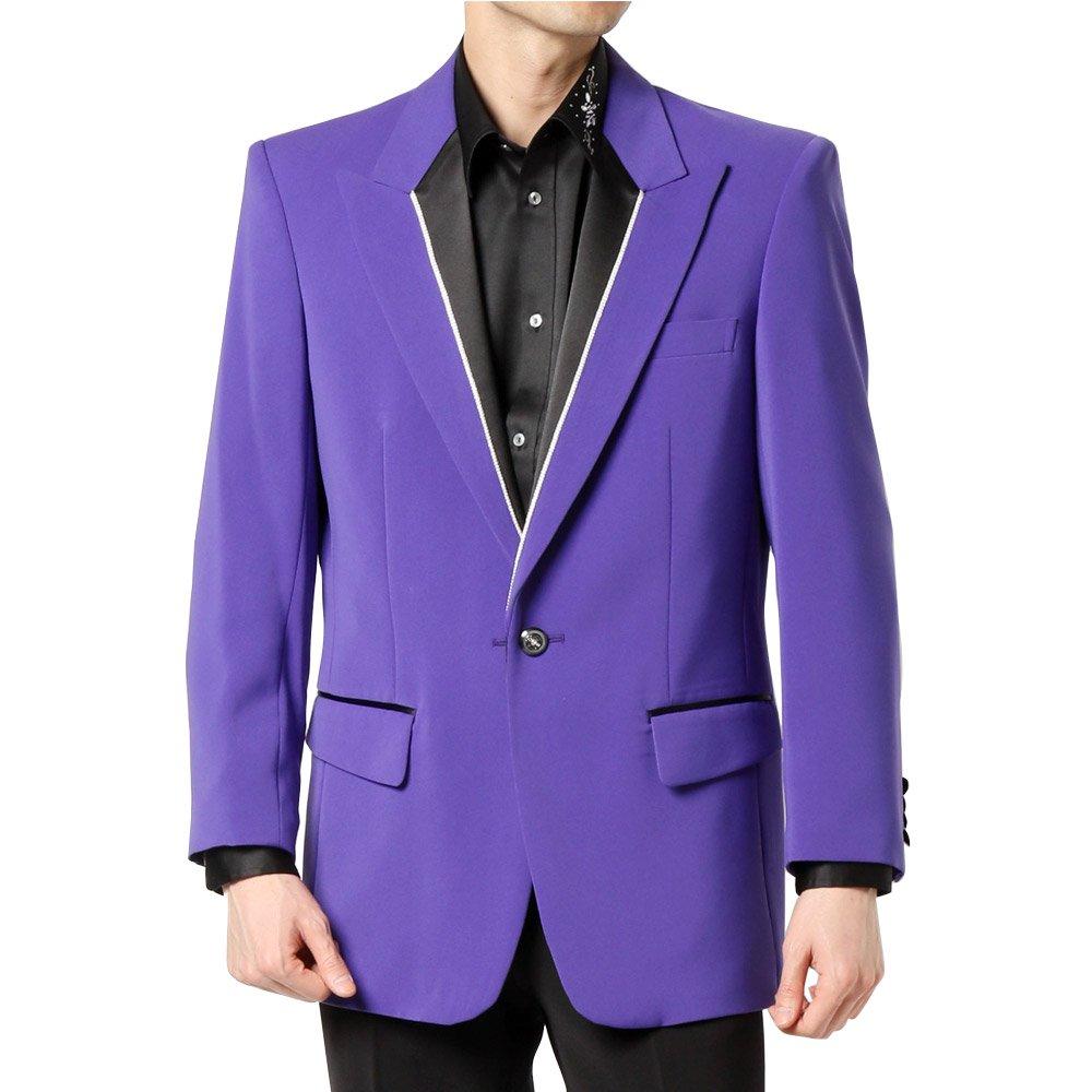 シングル 1つボタン衿切替ジャケット 男女兼用 衣装|カラー:パープル