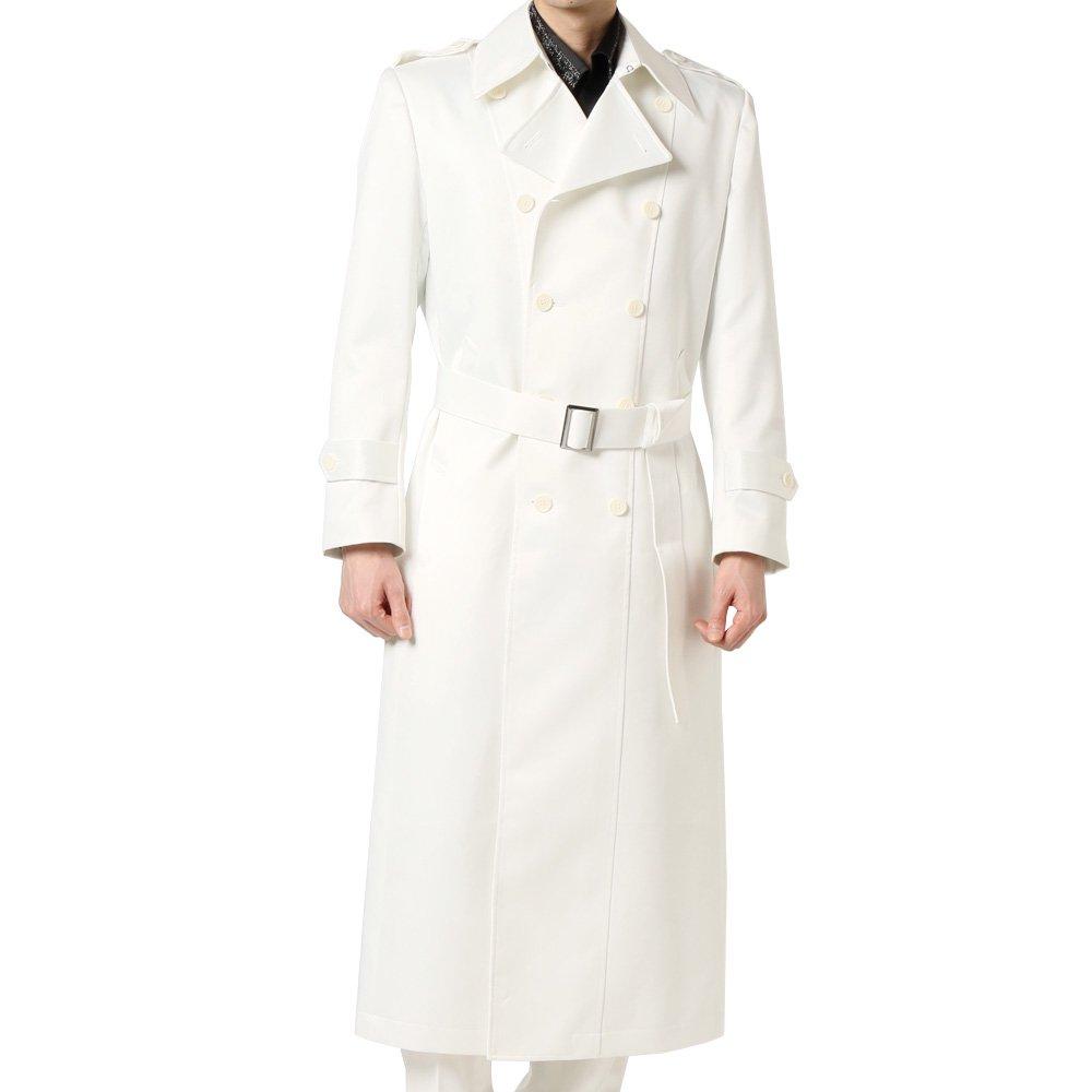 マキシ丈 ダブル トレンチコート 男女兼用 衣装|カラー:ホワイト