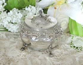 【純銀】1898年  ティーキャディ Elkington&Co