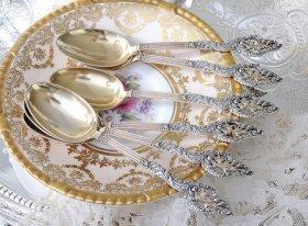 【フランス純銀950】c.1890   ティースプーン 6本 Alphonse Debain