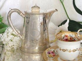 英国アンティーク【純銀】1880年 お一人様サイズ コーヒーポット