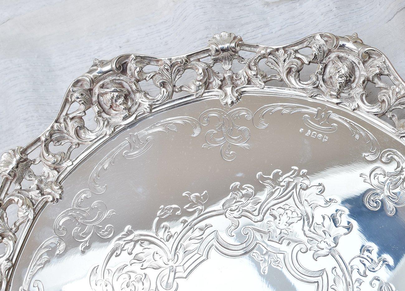 英国アンティーク銀器【シルバープレート】c.1860 サルヴァ