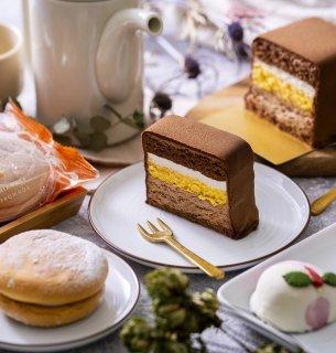 長崎の歴史感じるグラバー園の石畳ショコラと桃バターカステラ、しあわせフロマージュのセット(発送専用)
