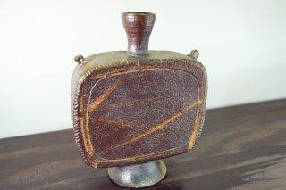 自然釉扁壺