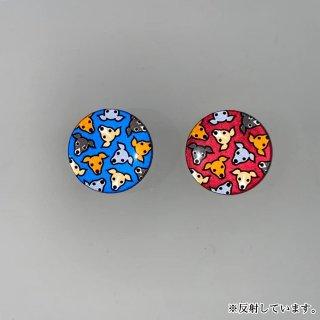光る缶バッジ/イタグレがいっぱい!(赤、青)/国産/高輝度再帰性反射材使用/イタリアングレイハウンド