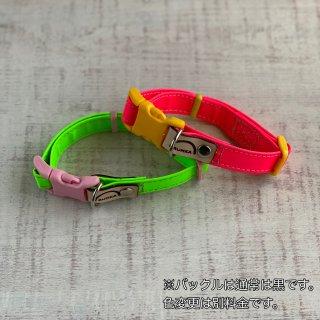 【新作】【期間限定価格】【15�首輪】夜の散歩に安心!反射材(リフレクター)どピンク、ど緑