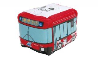 赤バス走るぬいぐるみ(長崎県交通局)