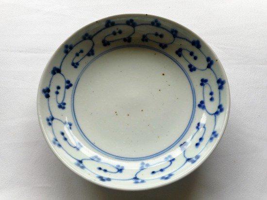 砥部焼 中田窯 6寸丸皿(唐草)