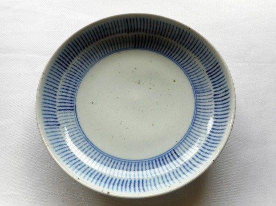砥部焼 中田窯 6寸丸皿(はけめ)