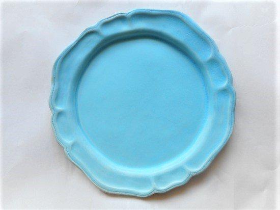 長浜由起子作 洋皿(トルコブルー)