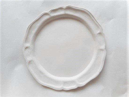 長浜由起子作 洋皿(白マット)
