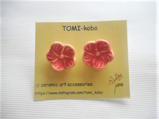 TOMI-kobo お花のピアス(ピンク)