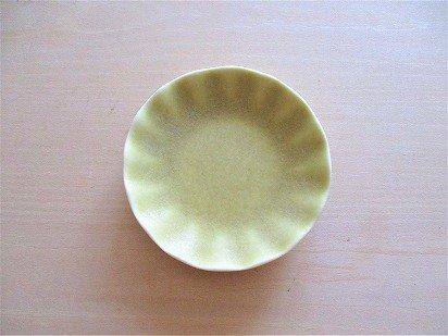 佐々木綾子(AYAKO SASAKI porcelain)豆皿 花(イエロー)