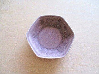 佐々木綾子(AYAKO SASAKI porcelain)豆皿 六角(あずき色)