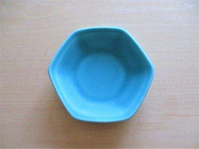 佐々木綾子(AYAKO SASAKI porcelain)豆皿 六角(ターコイズ)