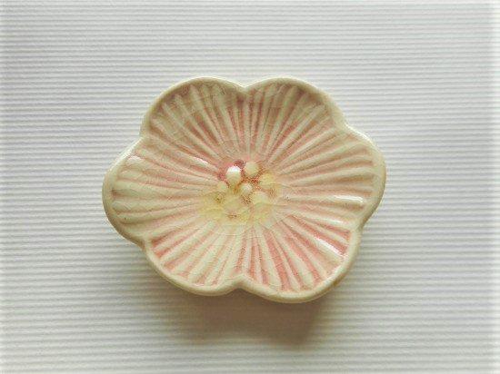 TOMI-kobo ピンクのお花の箸置き(6枚花びら)