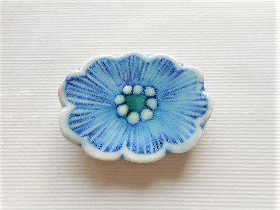 TOMI-kobo 青いお花の箸置き(10枚花びら)
