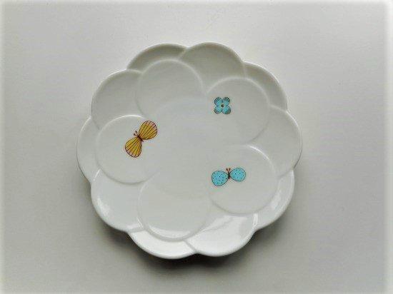 ハレクタニ チョウ取り皿(ブルー)