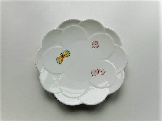 ハレクタニ チョウ取り皿(ピンク)
